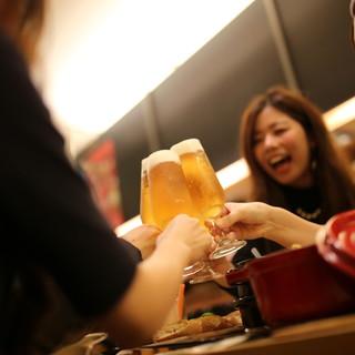 2時間飲み放題付コース料理@4,000~5,000円(税別)