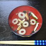 吉野鶏めし保存会 - 松茸お吸い物(後付です)
