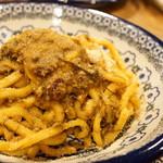 ロットチェント - 黄色いイワシのソース 極太麺(1500円)