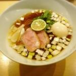 紫 くろ喜 - 味玉鴨そば(細麺)(1,000円)