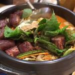 辰家 - スンデジョンゴル(スンデの豚骨スープ鍋)
