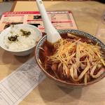 Shinkawataishoukenhanten - 辛口ネギラーメンに半ライスがおまけで650円也は安い。