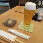 手打ち蕎麦 二村 - 生ビール・お通し(2016/10)