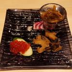 北海道料理 北新地 太田 - 松前漬け、粒貝、すじこ