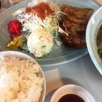 あづまラーメン - ラーメン定食