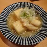 魚Bar 一歩 - 鮮魚と豆腐の蟹餡かけ