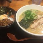 57654358 - 2016.10 焼肉丼セット麺大盛