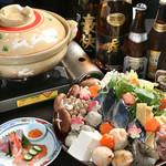 開田茶屋龍八 - おまかせ鍋コース