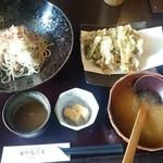 57660189 - 昇竜舞茸の天ぷらとおろし蕎麦