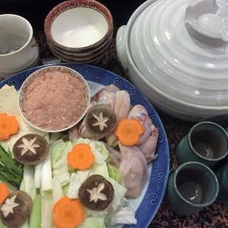 「博多水炊きセット」野菜、つくね、豆腐セット・・1,980円