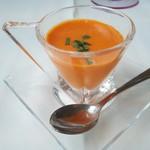 リストランテ ウミリア - 1.赤パプリカのスープ(冷製)