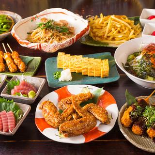料理と飲み放題コミコミコース3500円~詳しくはコースの欄へ