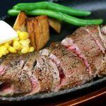 """DINING 蔵RA - アンガス牛""""ロース""""の鉄板ステーキ-食べる醤油で-"""