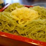 芝大門 更科布屋 - 【10月の変わりそば】菊切り蕎麦