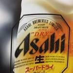 青森バルわいはー - 当店ではアサヒスーパードライもしくは麒麟ビール(中ビン)をお楽しみいただけます。