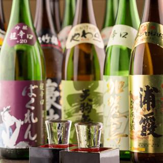 日本酒・焼酎40種以上
