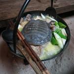 季節料理 つばき - 河北潟のスッポン 鍋にて(ディナー10月)