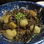 季節料理 つばき - 里芋、シバタケ、アオヌメリ(ディナー10月)