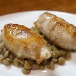イタリアニタ - 料理写真:仔羊と鶏肉のソーセージ仕立て(800円)(2014/1)