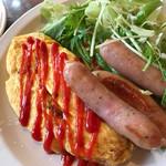 洋風レストラン Soleil - ウィンナーのオムレツ   優しいしお味