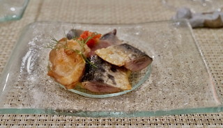 ペッパーミル - ホタテの貝柱とサンマの 自家製燻製 ホタテがジューシーで抜群のお味