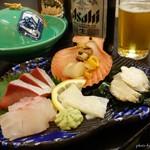 国賀荘 - 2016年8月 ある日の夕食の一部。言うまでもなく新鮮!
