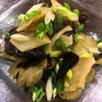 Choushuu - 搾菜とキクラゲの和え物