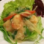 Choushuu - 海老と九条ねぎのガーリック炒め