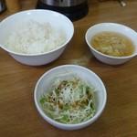 57705712 - ライス、スープ、サラダ