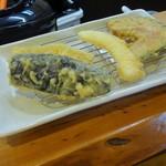 57708642 - バラエティ定食 ナス、カボチャ、イカ、白身魚
