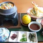 さざん亭 - 料理写真:牡蠣釜飯天ぷら御膳