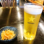 かつ半 - グラス生ビール
