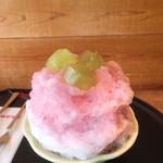 茶屋赤鰐 - 葡萄氷・ハーフ