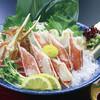 生け簀の甲羅 - 料理写真:生本ズワイガニ刺し