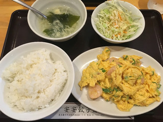安安餃子房  - ふわふわ玉子と海老の塩炒め(750円)