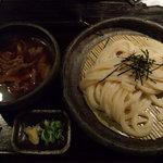 山元麺蔵 - 牛と土ごぼうのつけ麺945円