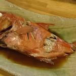 炉ばた焼 しばらく - 金目鯛の煮付(201610)