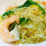 シーズ ダイニング エン - 料理写真:しゃきしゃきレタスとプリプリの海老炒飯