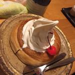 甘味喫茶 おかげ庵 - 2016.10.16 ②ミニシノワール バニラ 490円