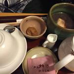 甘味喫茶 おかげ庵 - 2016.10.16 ⑤甘味とドリンクセット ぜんざいと紅茶 780円