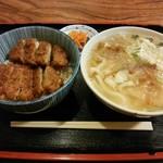 池田屋飲食店 - 料理写真:「ソースカツ丼セット」