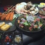 炙り家 - 豪華海鮮づくしコース