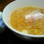 麺屋 輝 - 淡麗つけ麺 スープ