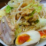 麺屋 輝 - 輝ら~めん 麺大盛 野菜盛普通