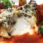 ヴェルデ ロッソ - 舌平目のムニエル秋野菜のチーズ焼き