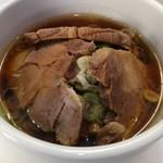 57756890 - チャーざるつけ麺・スープ
