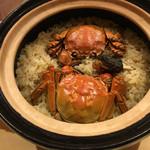 銀座 しのはら - 上海蟹の土鍋ご飯
