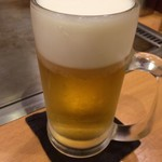 お好み焼 きじ - お好み焼きじ丸の内店(プレモル生)