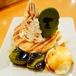 SNOOPY茶屋 由布院 - バニラと抹茶わらび餅のパンケーキ \680