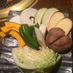 牛匠 炭火 - 野菜盛り合わせ